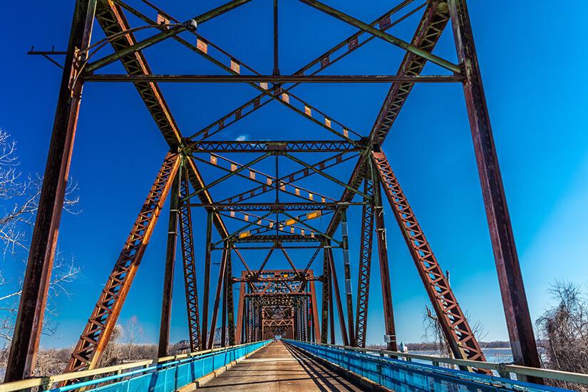Chain of Rocks Bridge in St. Louis