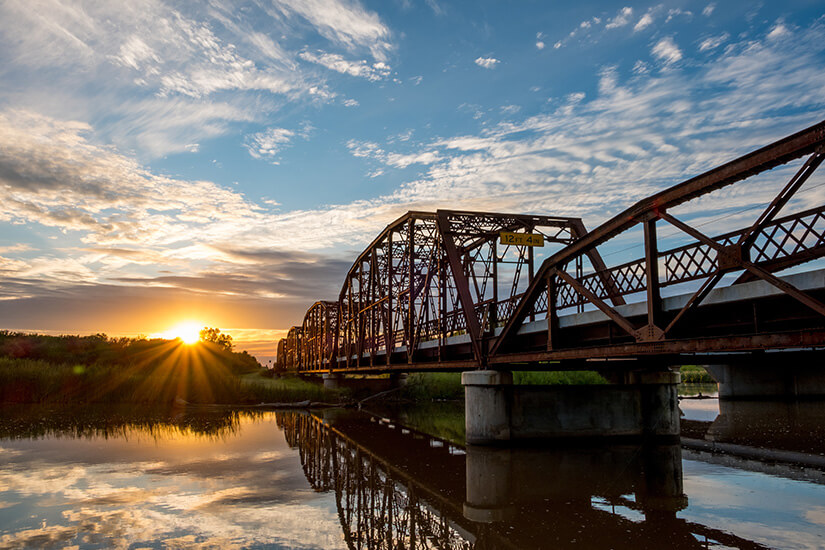 Historische Brücke nahe Oklahoma City