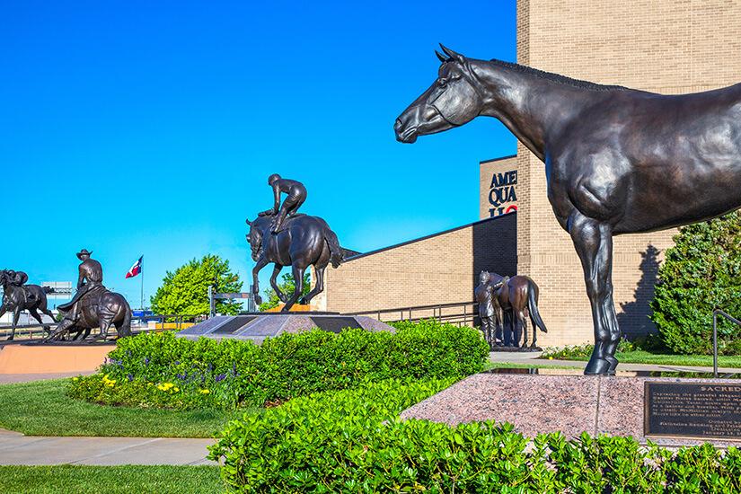 Skulpturen in Amarillo, Texas