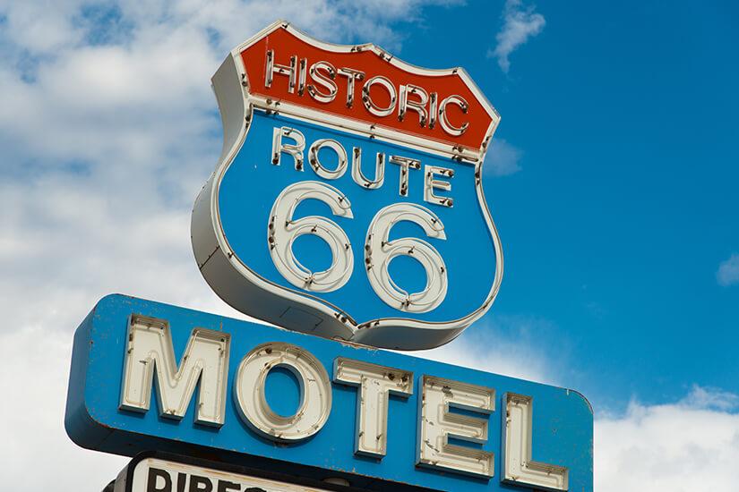Typisches Motel an der Route 66