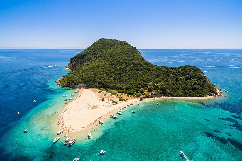 Marathonisi, die Insel der Schildkröten