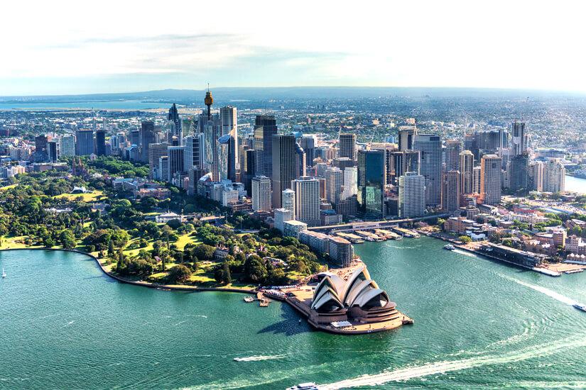 Einer der längsten Flüge führt nach Sydney