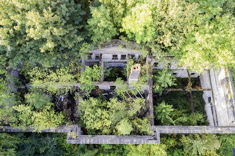 Schloss Dwasieden von oben