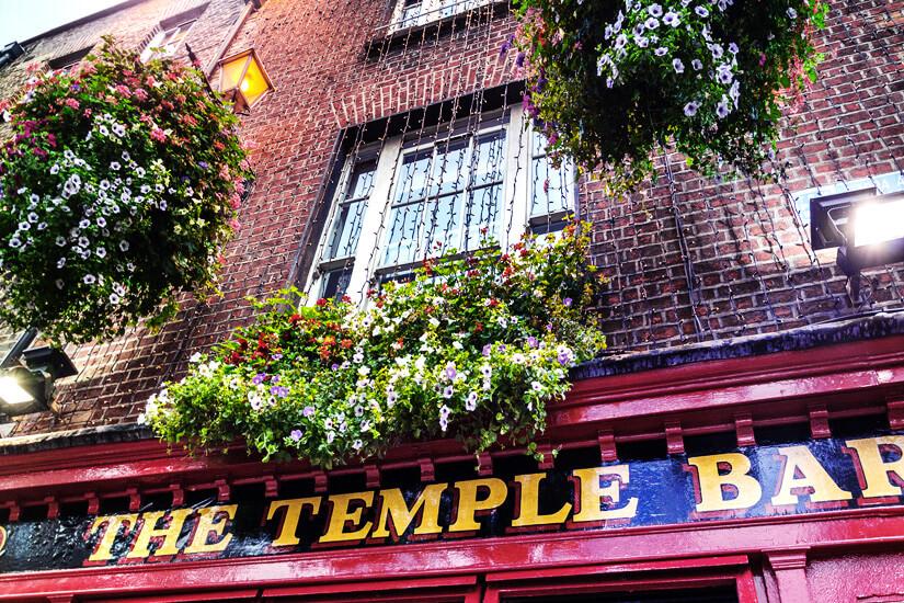 The Temple Bar im gleichnamigen Stadtviertel