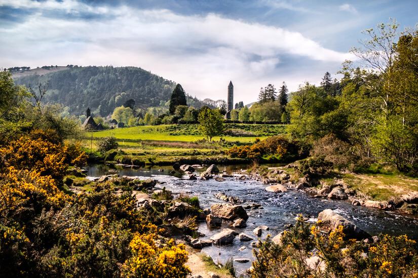 Glendalough in den Wicklow Mountains