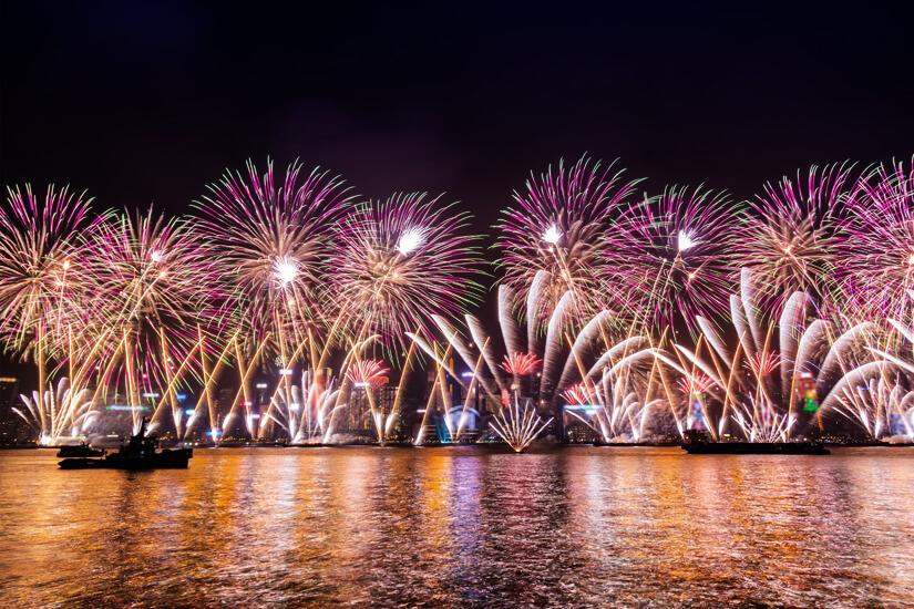 Feuerwerk zum neuen Jahr in China