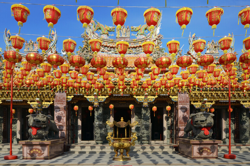 Geschmückter chinesischer Tempel