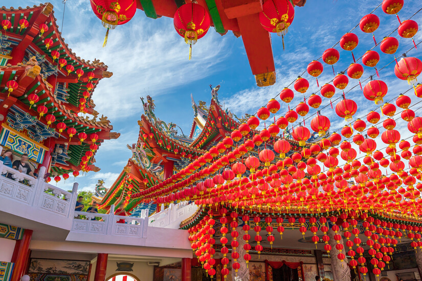 Chinesisches Neujahrsfest: Tradititionelle Lampions