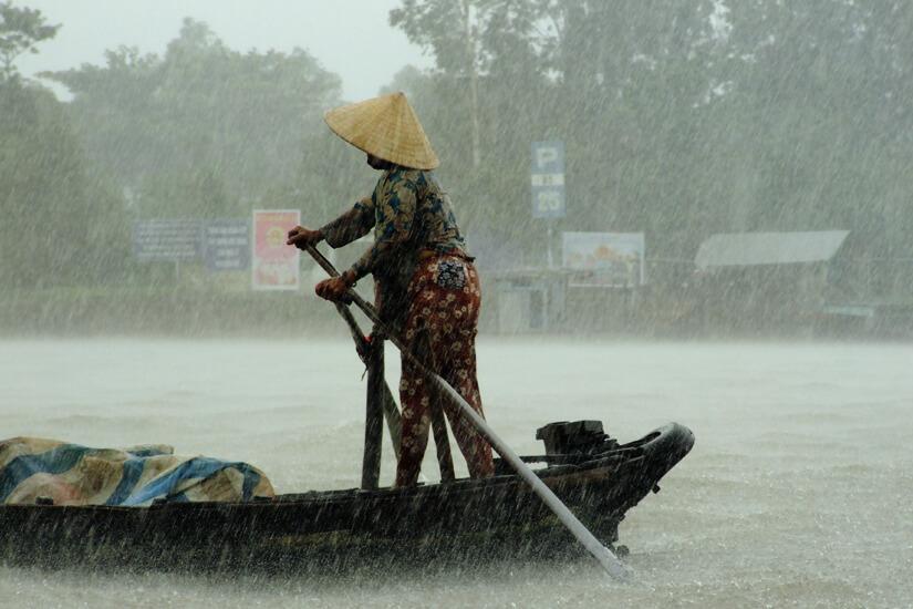 Monsun während der Regenzeit in Asien