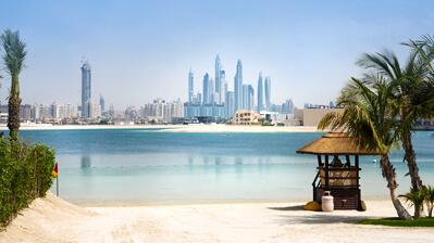 Blick auf die Silhouette von Dubai