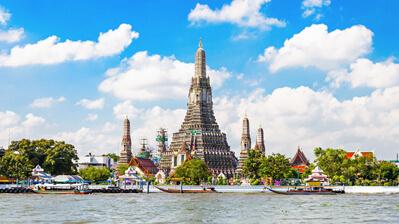 Der Wat Arun Tempel in Bangkok