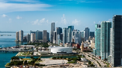 Skyline von Downtown Miami