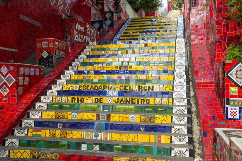 Escadaria Selarón in Santa Teresa