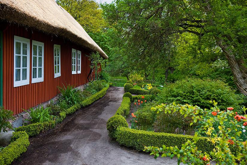 Traditionell schwedisches Haus im Skansen Freilichtmuseum
