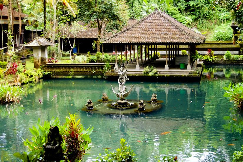 Wassergarten im Gunung Kawi Temple in Ubud