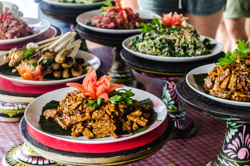 Das balinesische Essen ist vielfältig und würzig