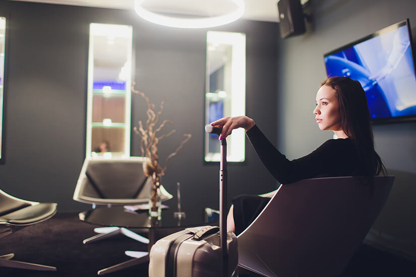 Business Lounge am Flughafen