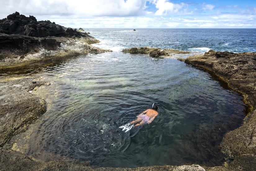 Naturpool auf der Azoreninsel Sao Miguel