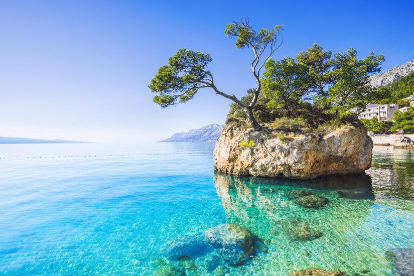 Bucht an der Makarska Riviera
