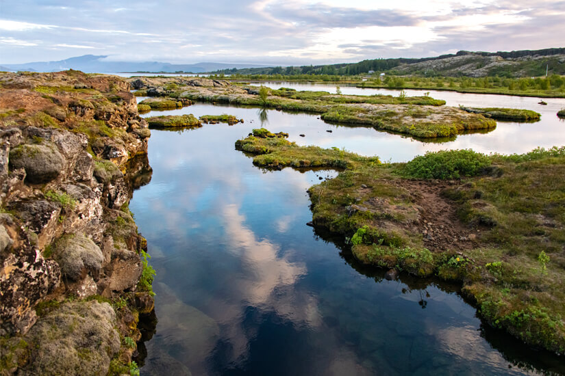 Silfra-Spalte im Thingvellir Nationalpark