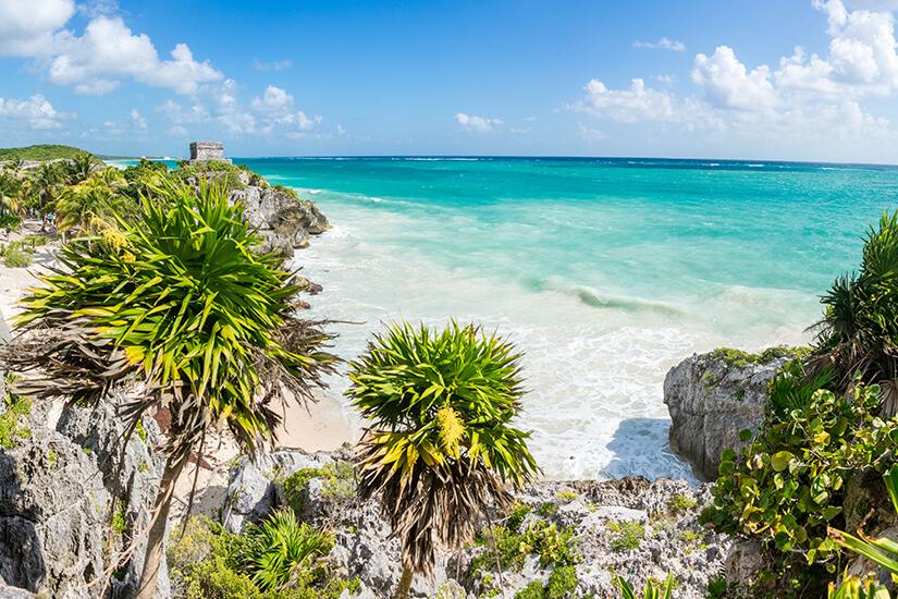 Karibischer Strand und Maya Ruinen in Tulum