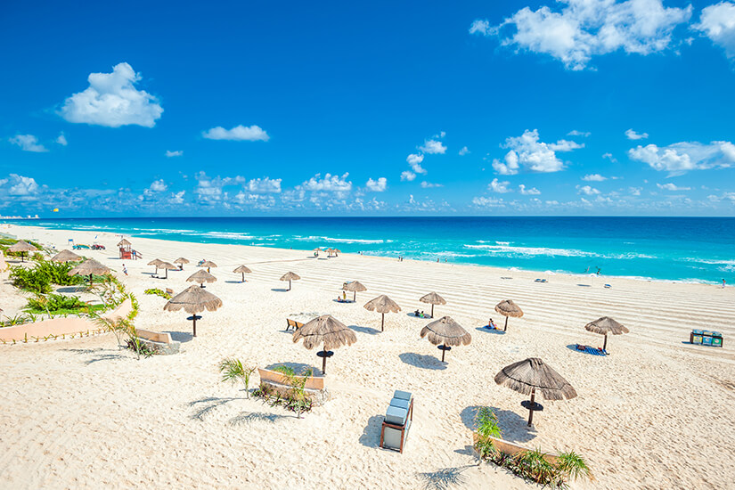 Traumstrand in Cancún auf der Halbinsel Yucatán