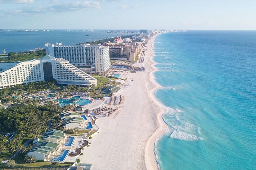 Hotels direkt am Strand in Cancún