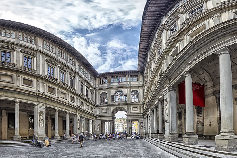 Die weltberühmten Uffizien beherbergen viele Kunstwerke