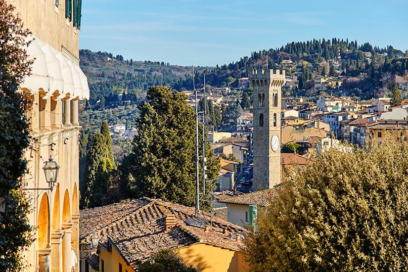 Fiesole liegt in der Nähe von Florenz