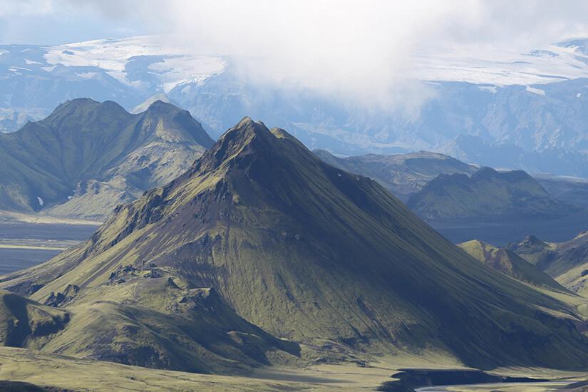 Stórasúla und Eyjafjallajökull in Island