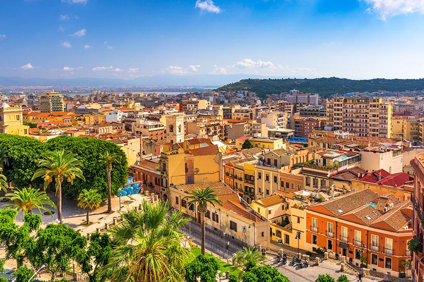 Blick auf Cagliari in Sardinien