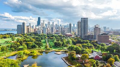 Silhouette von Chicago