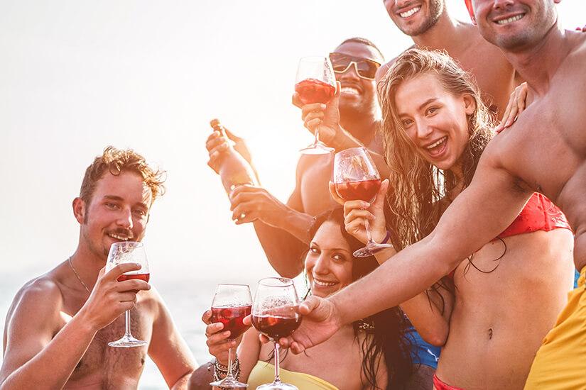 Alkohol trinken auf Mallorca