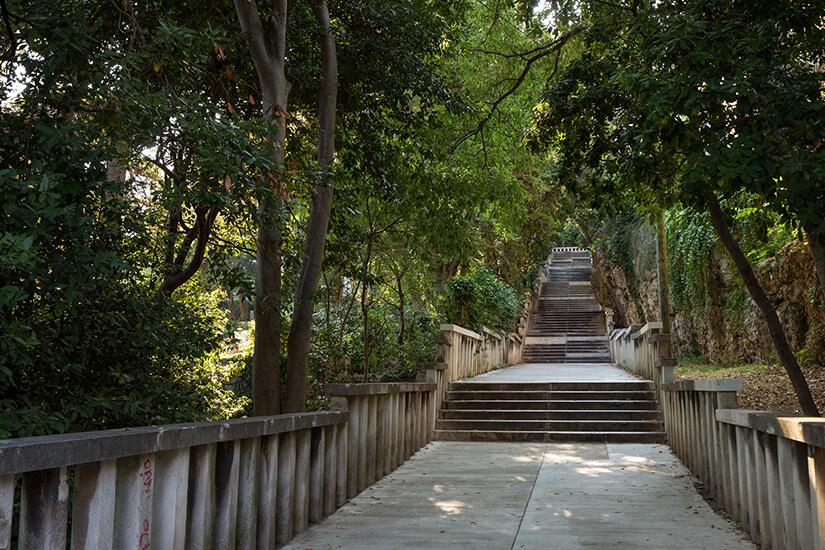 Treppe im Waldpark Marjan