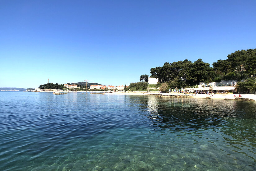 Plaža Bačvice im Süden von Split
