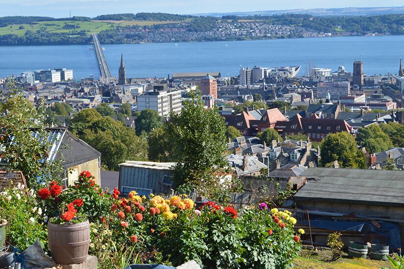 Dundee und der Fluss Tay