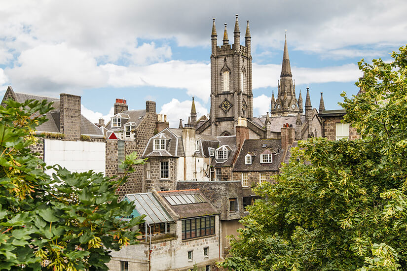Malerisches Aberdeen in Schottland