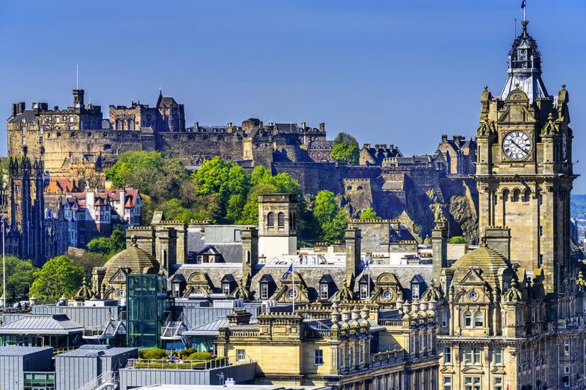 Blick auf das Edinburgh Castle