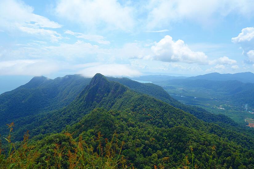 Blick vom Gunung Raya, dem höchsten Punkt auf Langkawi
