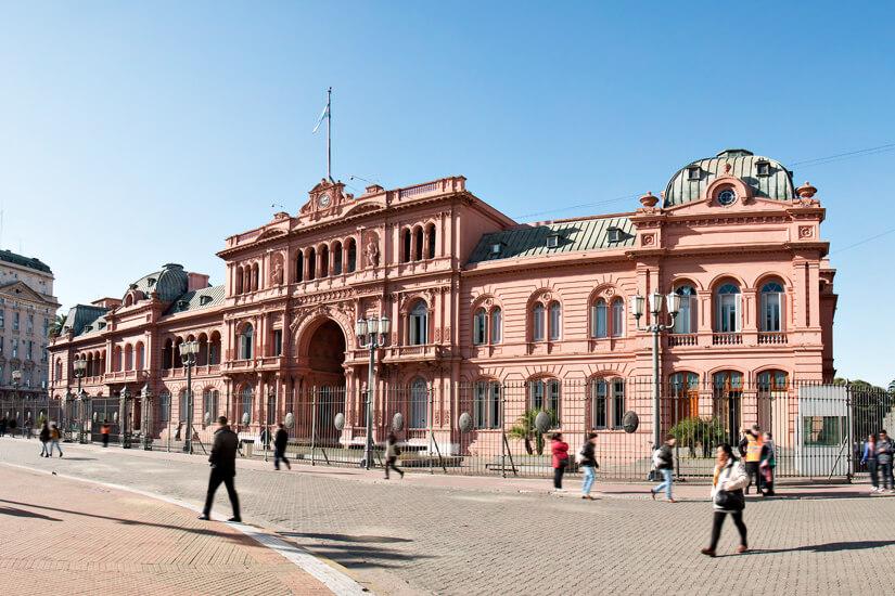 Sitz des Präsidenten Casa Rosada