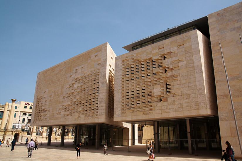 Das Parlamentsgebäude von Malta