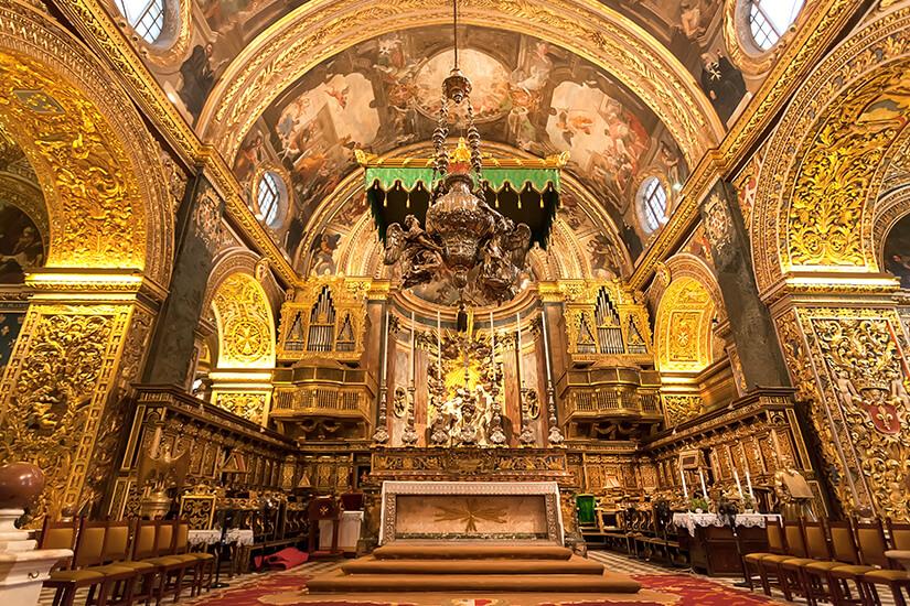 Das Innere von St. John's Co-Cathedral