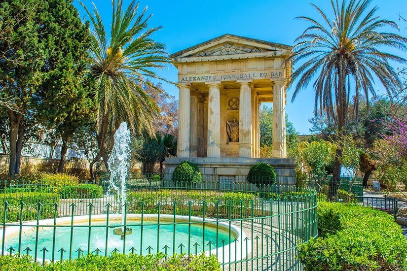 Entspannen in den Lower Barrakka Gardens