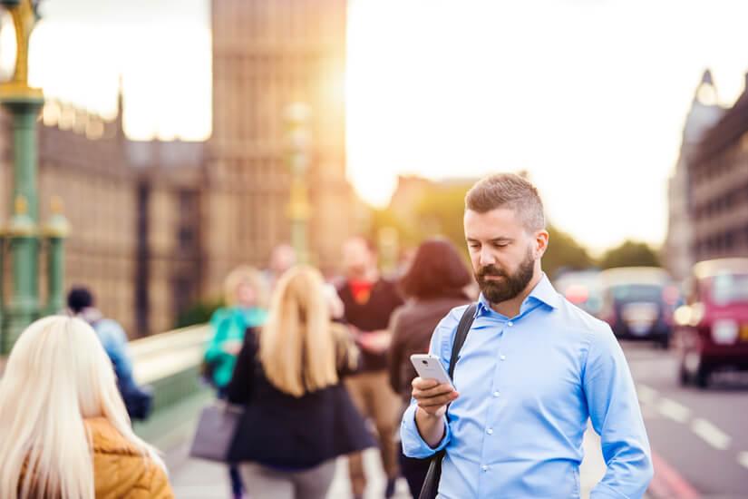 Mit dem Smartphone in London