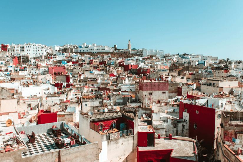 Blick auf die Dächer der Altstadt in Tanger