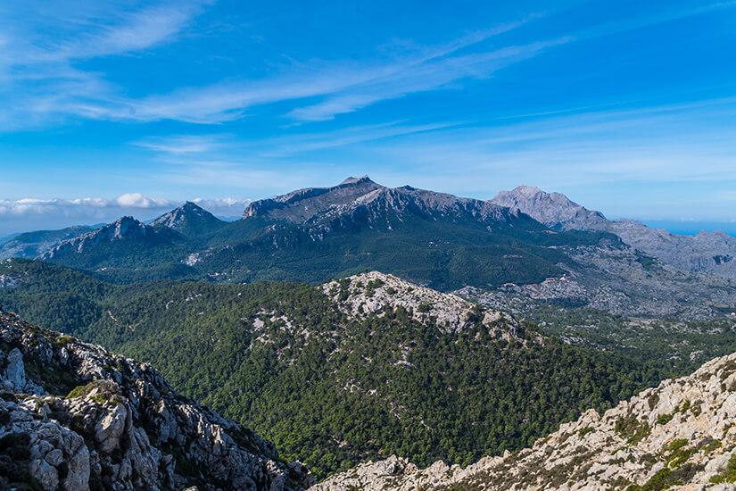 Blick auf den Puig de Massanella