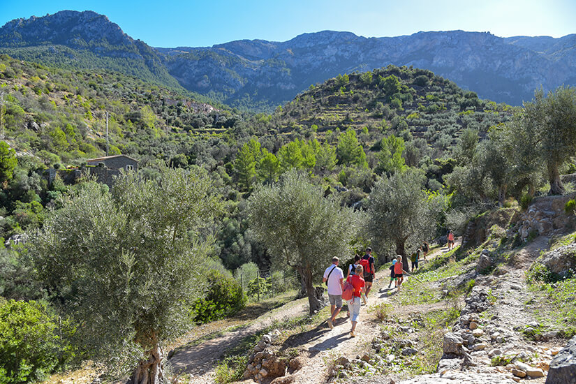 Wanderer unterwegs im Tramuntana-Gebirge