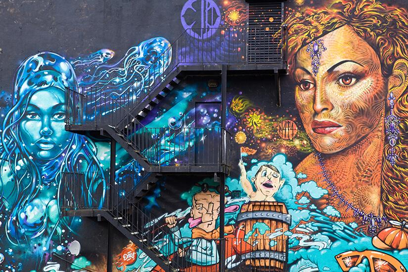 Kreatives Mural in Manchester