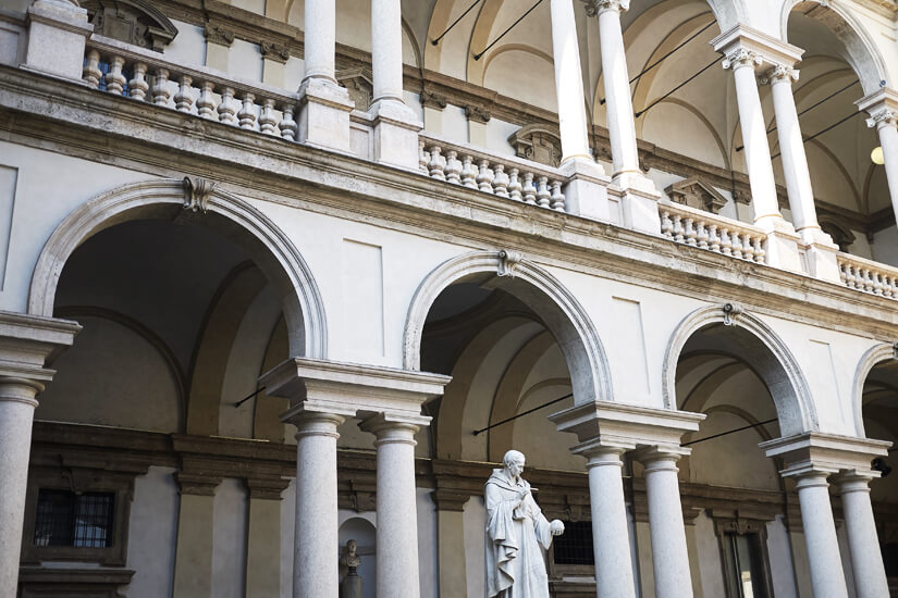 Palazzo Brera ist eine der bekanntesten Sehenswürdigkeiten in Mailand