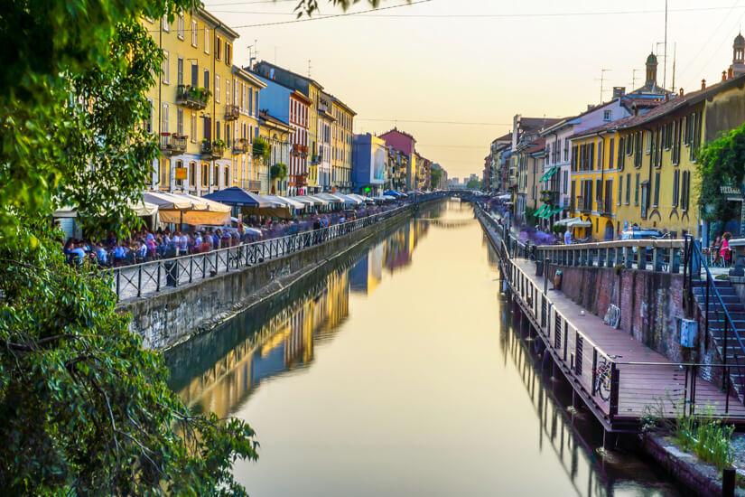 Am Kanal in Navigli in Mailand
